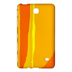 Yellow And Orange Lines Samsung Galaxy Tab 4 (7 ) Hardshell Case  by Valentinaart