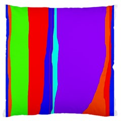 Colorful Decorative Lines Large Flano Cushion Case (one Side) by Valentinaart