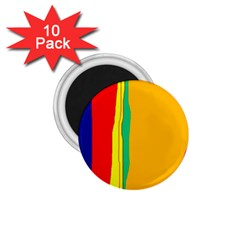 Colorful Lines 1 75  Magnets (10 Pack)  by Valentinaart