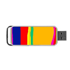 Colorful Lines Portable Usb Flash (two Sides) by Valentinaart