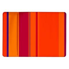 Orange Lines Samsung Galaxy Tab 10 1  P7500 Flip Case by Valentinaart