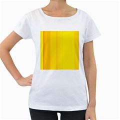 Yellow lines Women s Loose-Fit T-Shirt (White) by Valentinaart