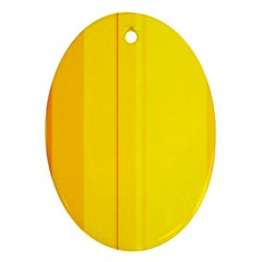 Yellow lines Oval Ornament (Two Sides)