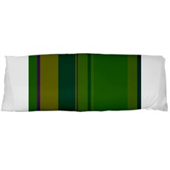 Green elegant lines Body Pillow Case (Dakimakura) by Valentinaart