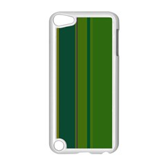 Green Elegant Lines Apple Ipod Touch 5 Case (white) by Valentinaart