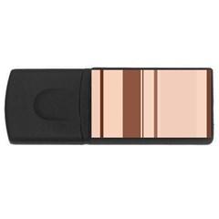 Elegant Brown Lines Usb Flash Drive Rectangular (4 Gb)  by Valentinaart