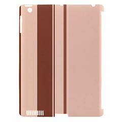 Elegant Brown Lines Apple Ipad 3/4 Hardshell Case (compatible With Smart Cover) by Valentinaart