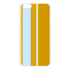 Yellow elegant lines Apple Seamless iPhone 6 Plus/6S Plus Case (Transparent) by Valentinaart
