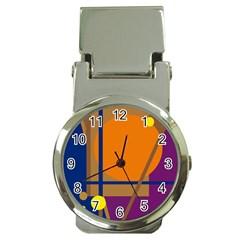 Decorative abstract design Money Clip Watches by Valentinaart