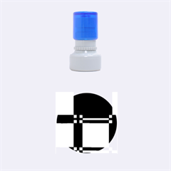 Blue Design Rubber Round Stamps (small) by Valentinaart