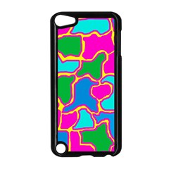 Colorful Abstract Design Apple Ipod Touch 5 Case (black) by Valentinaart