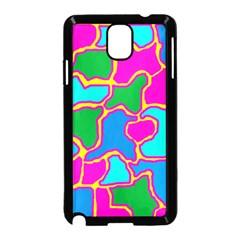 Colorful abstract design Samsung Galaxy Note 3 Neo Hardshell Case (Black) by Valentinaart