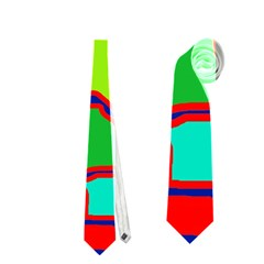 Colorful Abstract Design Neckties (two Side)  by Valentinaart