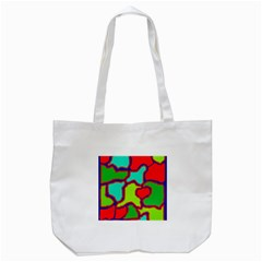 Colorful Abstract Design Tote Bag (white) by Valentinaart