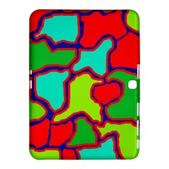 Colorful abstract design Samsung Galaxy Tab 4 (10.1 ) Hardshell Case  by Valentinaart
