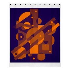 Blue And Orange Abstract Design Shower Curtain 60  X 72  (medium)  by Valentinaart