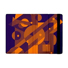 Blue And Orange Abstract Design Apple Ipad Mini Flip Case by Valentinaart