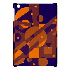 Blue And Orange Abstract Design Apple Ipad Mini Hardshell Case by Valentinaart