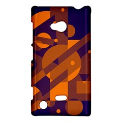 Blue And Orange Abstract Design Nokia Lumia 720 by Valentinaart