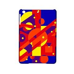 Blue and orange abstract design iPad Mini 2 Hardshell Cases by Valentinaart