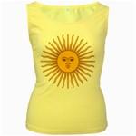Argentina Sun of May  Women s Yellow Tank Top