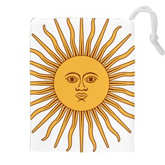 Argentina Sun of May  Drawstring Pouches (XXL) by abbeyz71