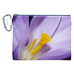 Crocus Closeupl Canvas Cosmetic Bag (xxl) by PhotoThisxyz