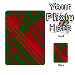 Red And Green Abstract Design Multi Purpose Cards (rectangle)  by Valentinaart