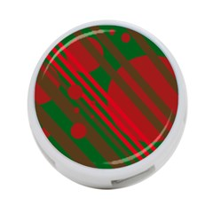 Red And Green Abstract Design 4 Port Usb Hub (two Sides)  by Valentinaart