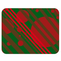 Red And Green Abstract Design Double Sided Flano Blanket (medium)  by Valentinaart