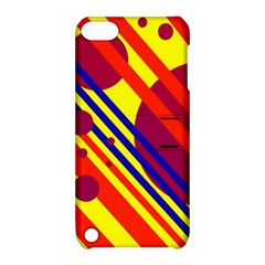 Hot Circles And Lines Apple Ipod Touch 5 Hardshell Case With Stand by Valentinaart