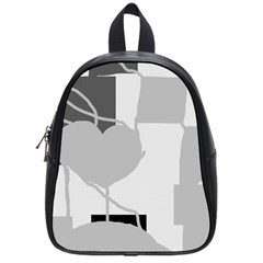 Gray Hart School Bags (small)  by Valentinaart