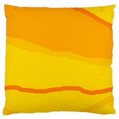 Yellow Decorative Design Standard Flano Cushion Case (two Sides) by Valentinaart