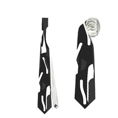 Black And White Elegant Pattern Neckties (two Side)  by Valentinaart