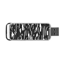 Black And White Elegant Pattern Portable Usb Flash (two Sides) by Valentinaart