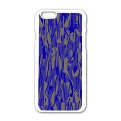 Plue Decorative Pattern  Apple Iphone 6/6s White Enamel Case by Valentinaart