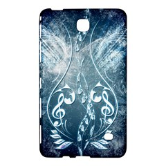 Music, Decorative Clef With Floral Elements In Blue Colors Samsung Galaxy Tab 4 (7 ) Hardshell Case  by FantasyWorld7