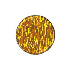 Yellow pattern Hat Clip Ball Marker by Valentinaart