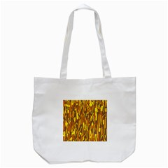 Yellow Pattern Tote Bag (white) by Valentinaart