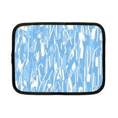 Blue pattern Netbook Case (Small)  by Valentinaart