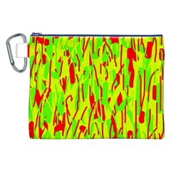 Green And Red Pattern Canvas Cosmetic Bag (xxl) by Valentinaart