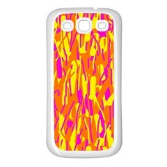 Pink And Yellow Pattern Samsung Galaxy S3 Back Case (white) by Valentinaart