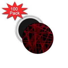 Black And Red Pattern 1 75  Magnets (100 Pack)  by Valentinaart
