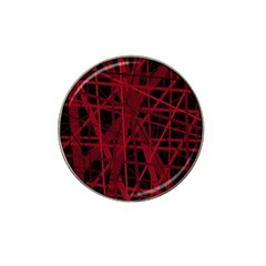 Black And Red Pattern Hat Clip Ball Marker (4 Pack) by Valentinaart