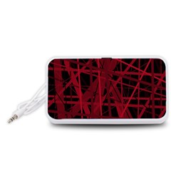 Black and red pattern Portable Speaker (White)