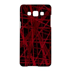 Black And Red Pattern Samsung Galaxy A5 Hardshell Case  by Valentinaart