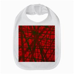Red Pattern Bib by Valentinaart