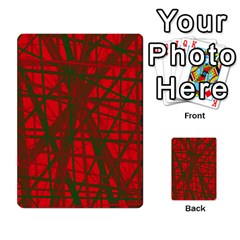 Red pattern Multi-purpose Cards (Rectangle)  by Valentinaart