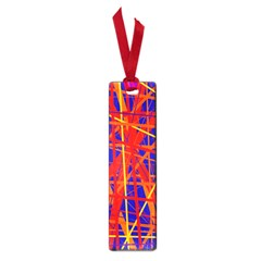 Orange And Blue Pattern Small Book Marks by Valentinaart