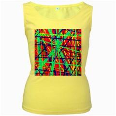 Colorful pattern Women s Yellow Tank Top